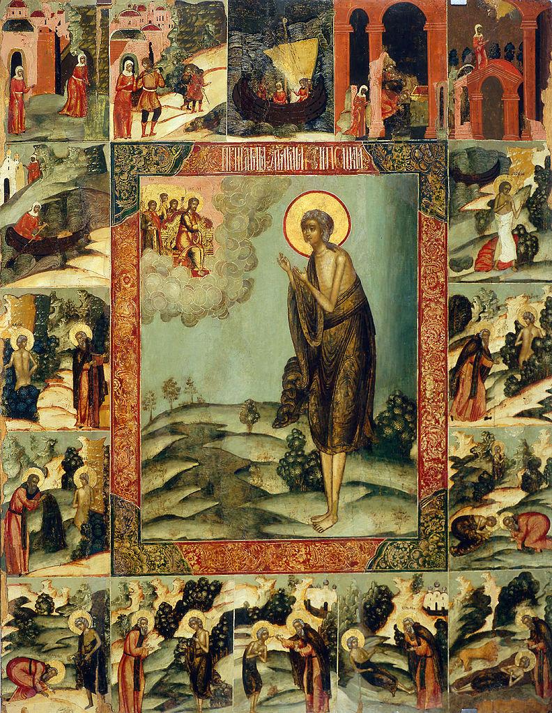 Maria Egipska na XVII-wiecznej ikonie
