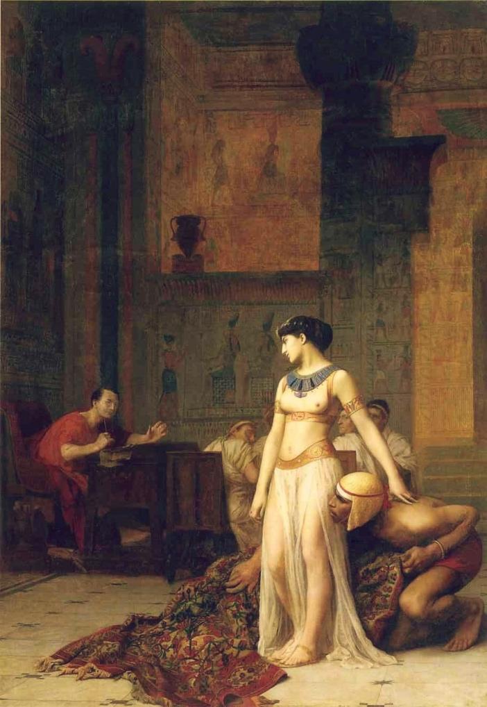 Jean-Léon Gérôme, Kleopatra iCezar (1866)