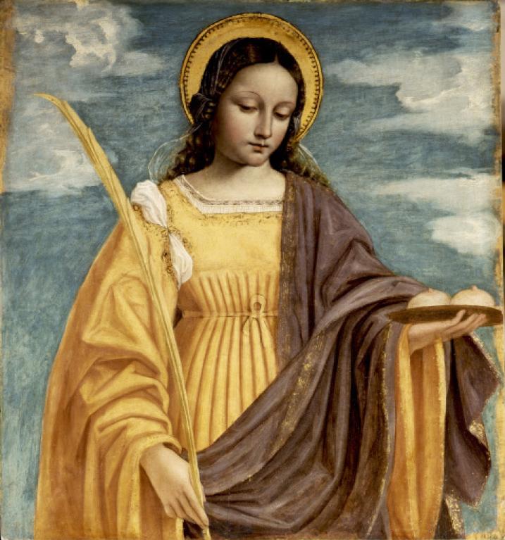 Święta Agata na obrazie Bergognone