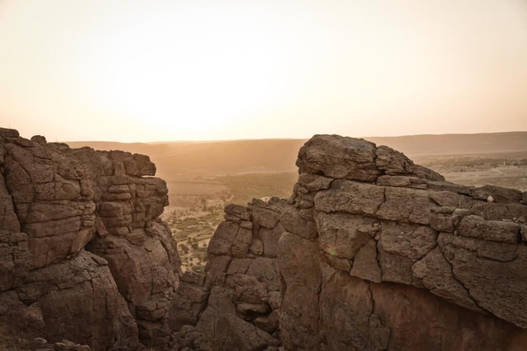 Skalne formacje wAlgerii, fot. BouAbdellah Bou