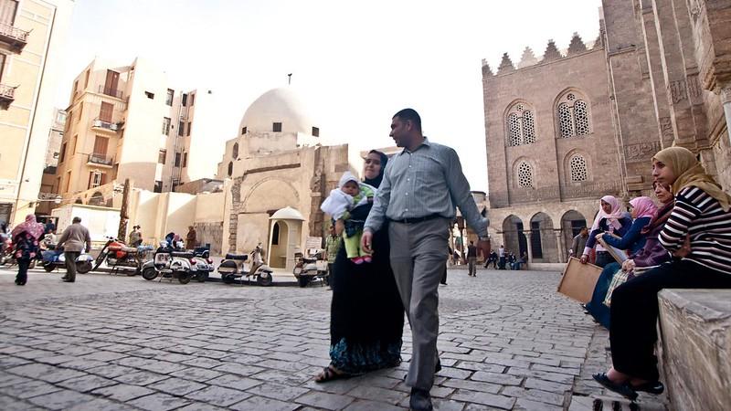 Współczesna egipska rodzina, fot. Nicola / Flickr, CC BY 2.0