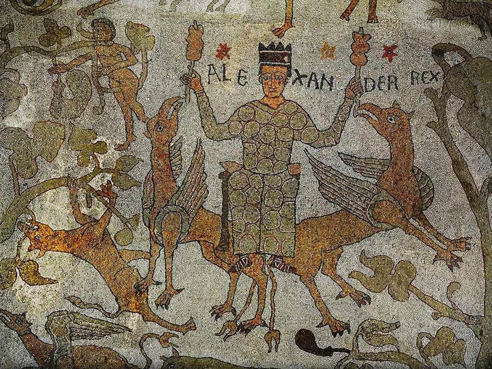 Aleksander na mozaice katedralnej we włoskim Otranto