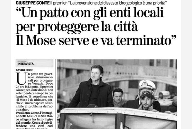 Premier Włoch Giuseppe Conte odwiedził wostatnich dniach San Marco, wziął udział wspotkaniu operacyjnym, rozmawiał zkupcami imieszkańcami. Kolejne nadzwyczajne spotkanie zostało zaplanowane na zbliżający się dzień 26 listopada.