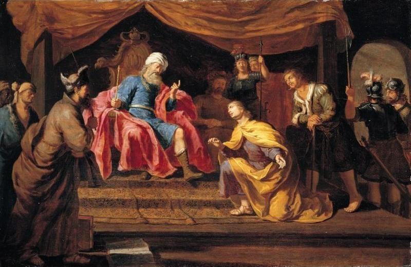 Józef objaśniający sen faraona – obraz flamandzkiego malarza Philipa Gyselaera (ok. 1650)