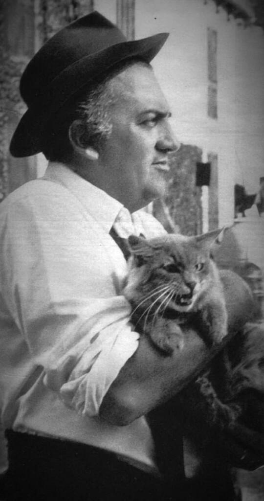 Fellini na rzymskim planie filmowym w1965 roku