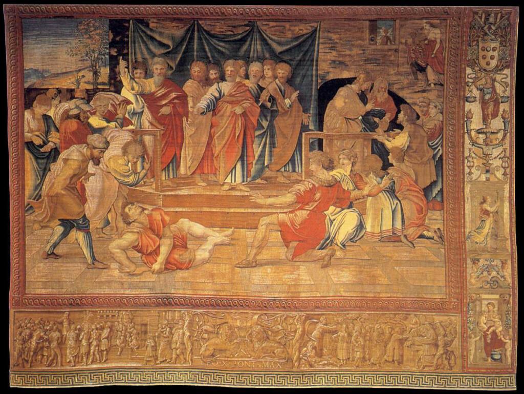 Śmierć Ananiasza – arras ze zbiorów Muzeów Watykańskich