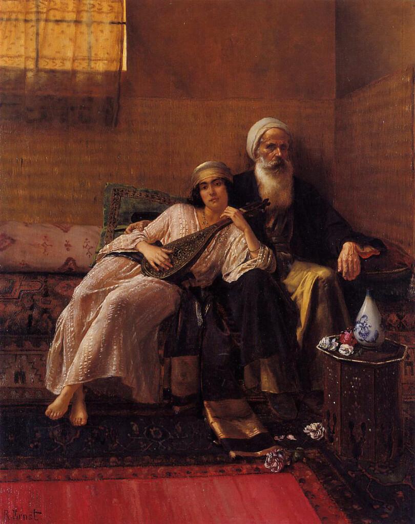 Obraz Ernsta Rudolfa, austriacko-francuskiego malarza-orientalisty