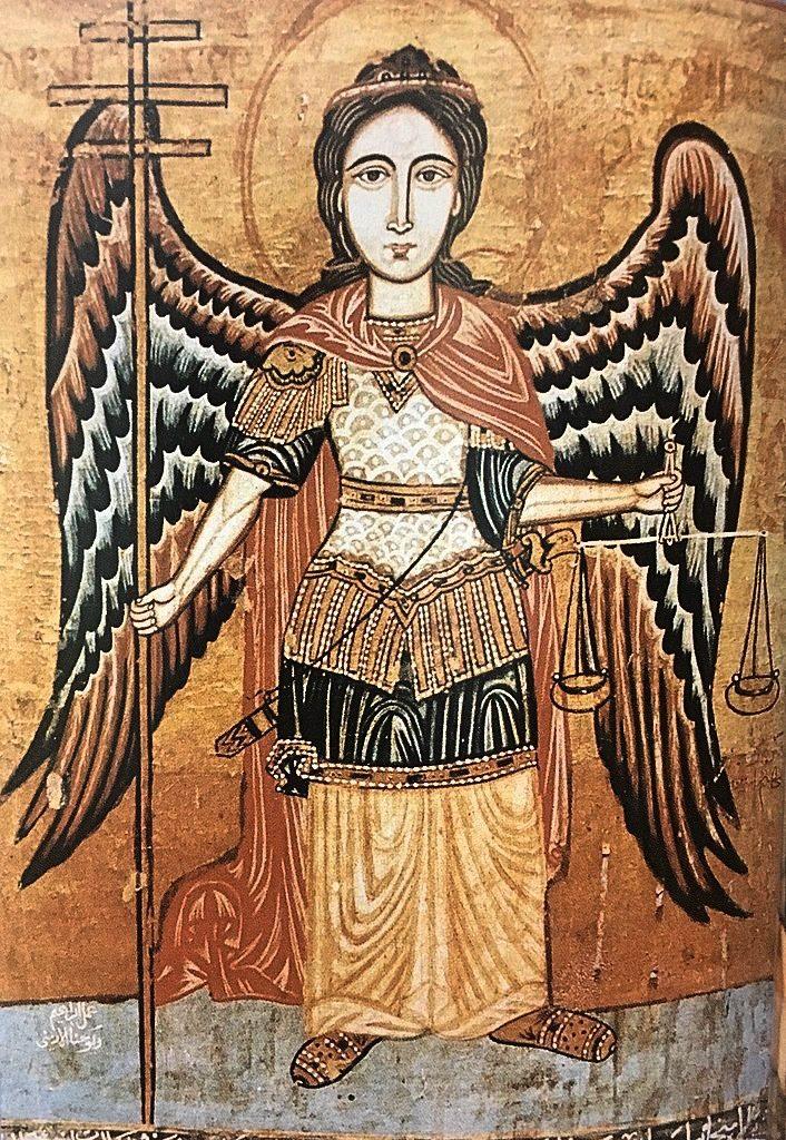 Archanioł Michał – koptyjska ikona zXVIII wieku (Muzeum Koptyjskie wKairze)
