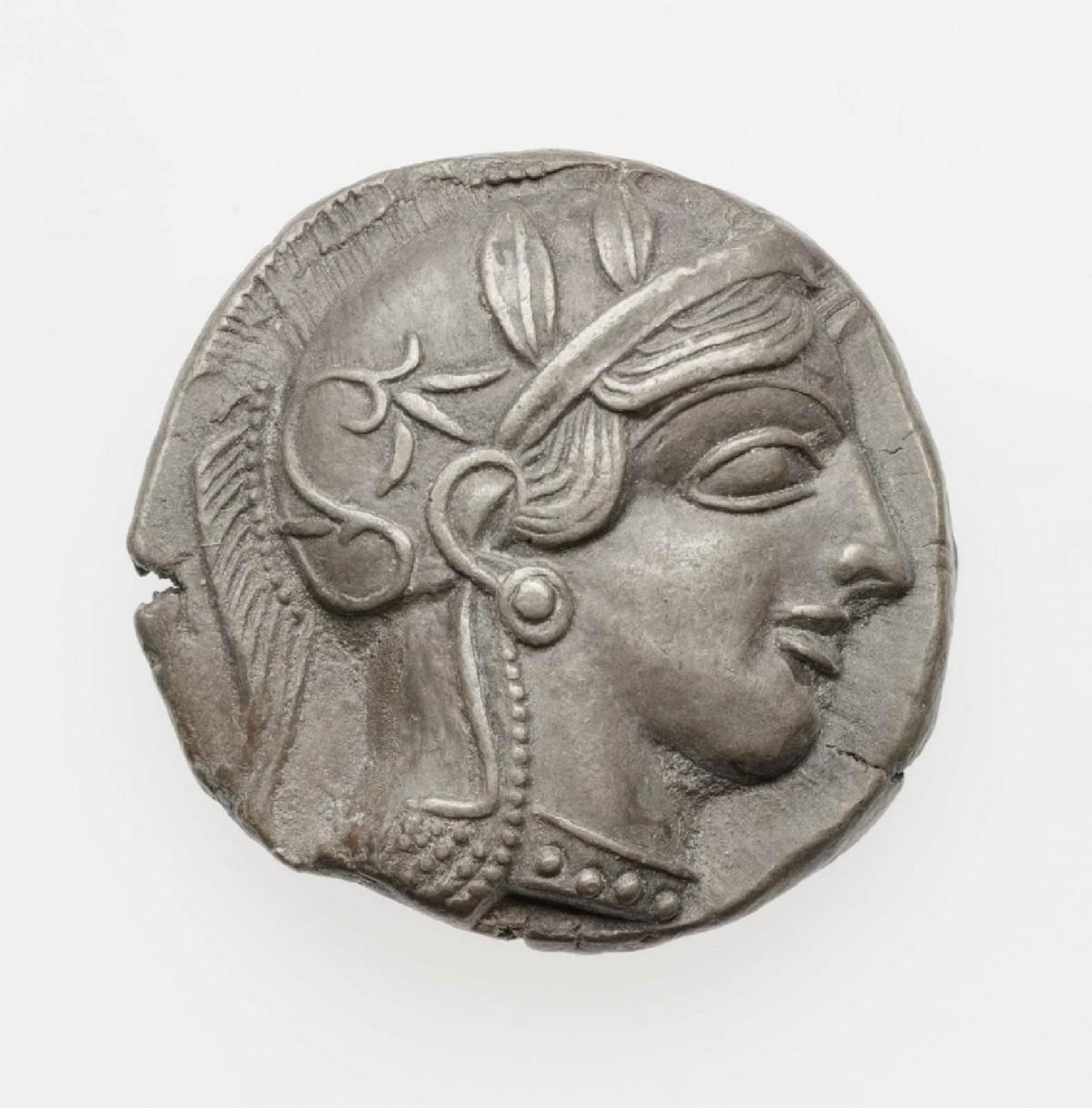 Drachma ateńska zgłową Ateny, Museum of Fine Arts wBostonie