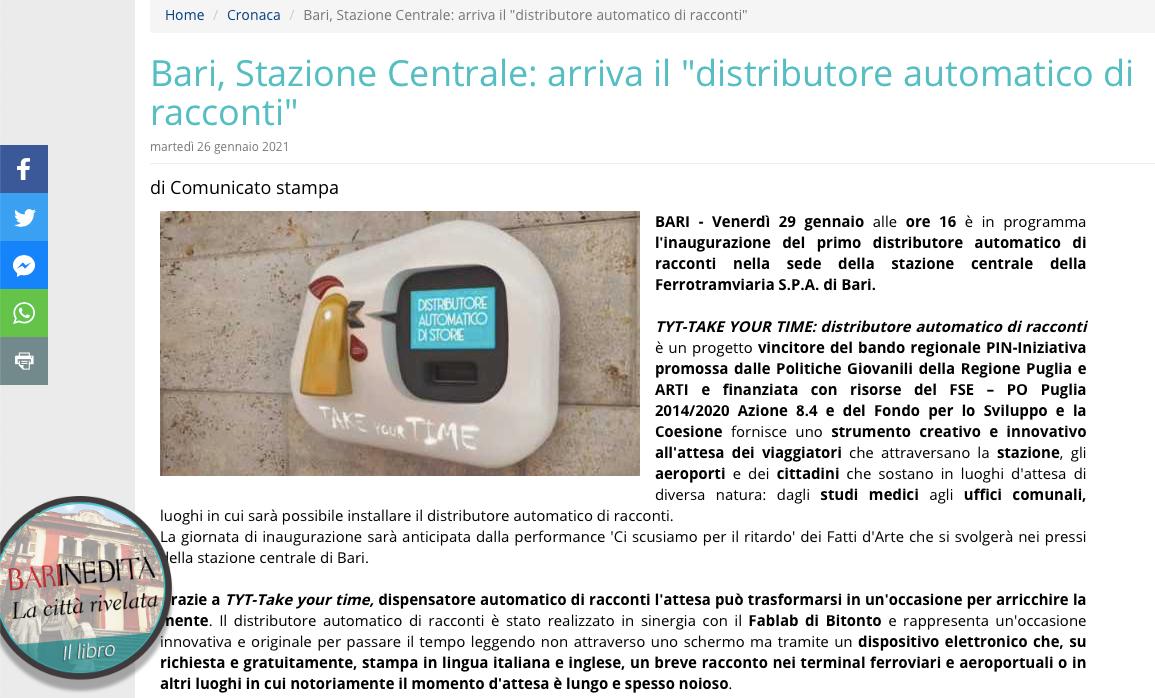Zrzut ekranu ze strony Barinedita.it
