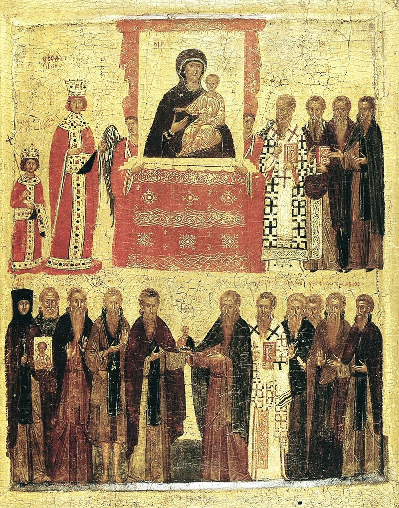 """XV-wieczna ikona """"Triumf Ortodoksji"""""""