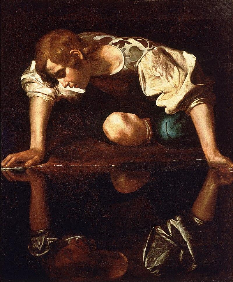 Do najsłynniejszych interpretacji mitu ozakochanym wsobie chłopcu należy bez wątpienia ta poczyniona przez genialnego Caravaggia, który ukazał go spowitego wmrok, mający zapowiadać dramatyczny finał jego historii. Narcyza malowało też wielu innych, jak choćby Poussin czy Dalí – więcej przeczytasz otym tutaj