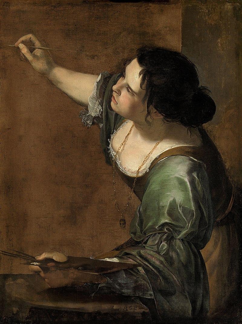 Autoportret jako alegoria malarstwa, Artemisia Gentileschi (1638)