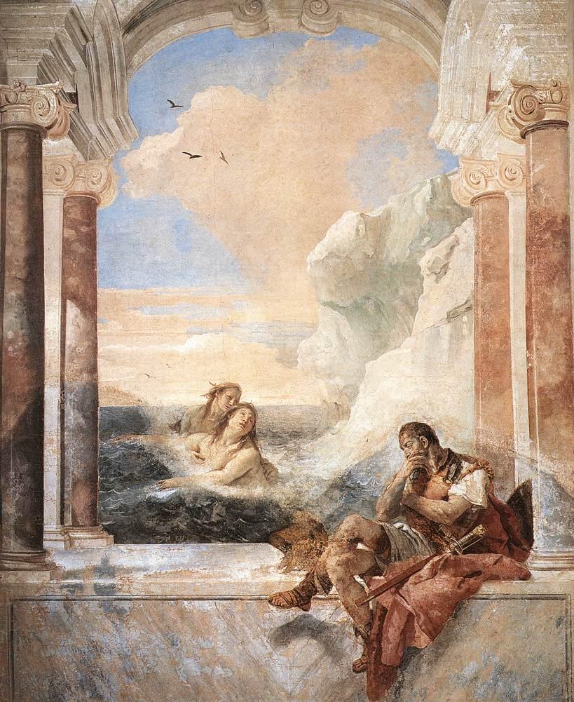 Giovanni Battista Tiepolo, Tetyda pocieszająca Achillesa (1757)