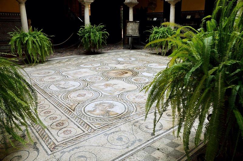 Mozaika zItaliki, Palacio Lebrija wSewilli, fot. Carole Raddato Flickr