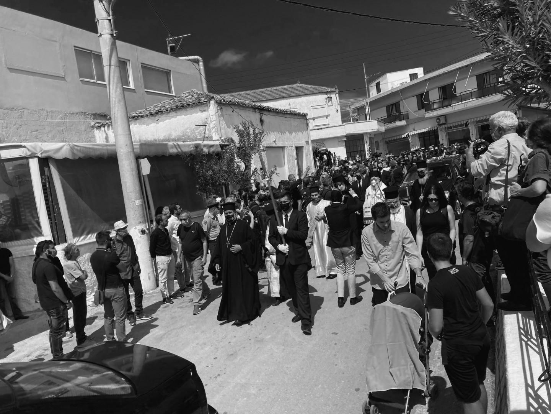 Pogrzeb Theodorakisa wGalatas 9 września 2021, fot. A. Lewańska