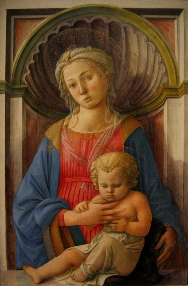 Filippo Lippi, adonna zDzieciątkiem, 1440-45